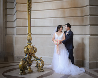 City Hall Couple by the Grand Staircase at San Francisco City Hall