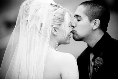 Black and White San Francisco Marriage Image
