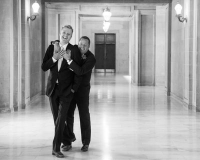 Fun Moment caught with Same-Sex Grooms - Gay Wedding Photography