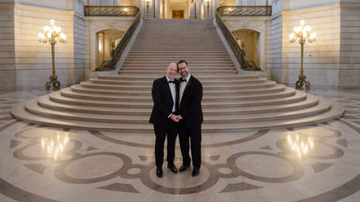 Gay San Francisco City Hall Wedding Photography - LGBTQ Marriage