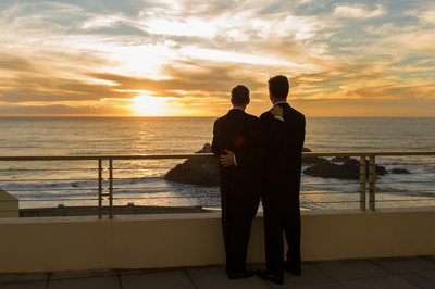 Gay Wedding Photography at Sunset in San Francisco