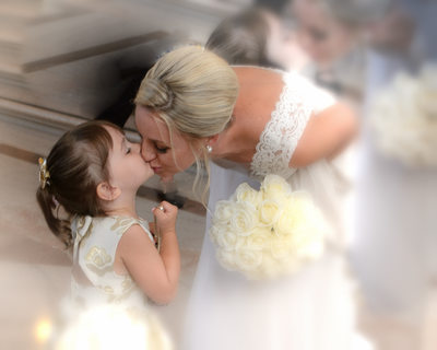 Soft Focus Special Effects in Wedding Photography with Bride