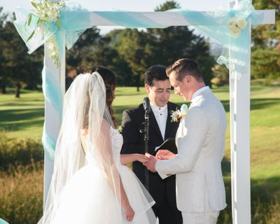 Ring Exchange at this Bay Area Wedding at Boundary Oaks in Walnut Creek