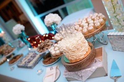 Cake Table at San Francisco Bay Area Wedding Reception
