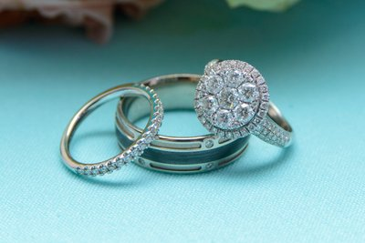 Close up Wedding Photography of Newlywed Rings