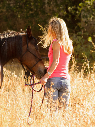 San Francisco Horse Photography - Woman in the Weeds