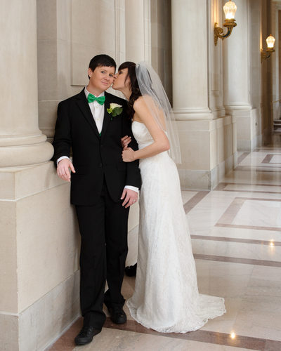 Lesbian San Francisco City Hall Kiss