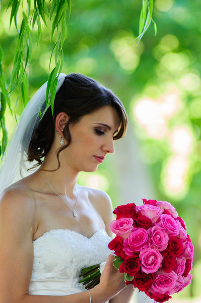 tranquil bride in Danville, California at Blackhawk