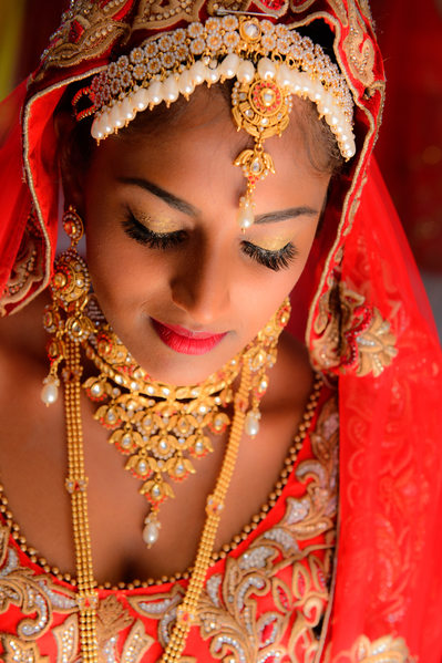 Dramatic Wedding Photography Image of an Indian Bride