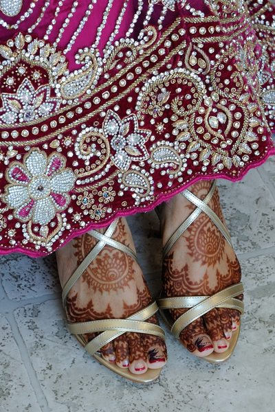 San Francisco Indian Wedding Photography - Henna Feet