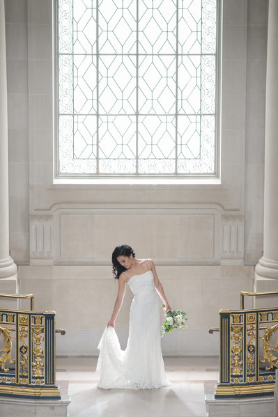 bride window light 2nd floor San Francisco city hall