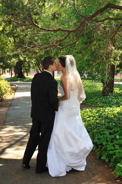 San Francisco Area Wedding Photographer - Kissing Under a Tree