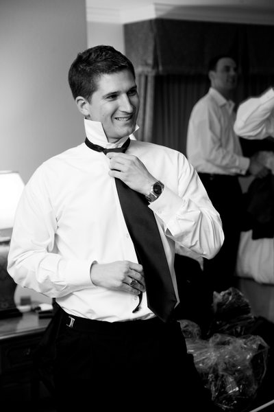 Groom Getting Ready for his Walnut Creek Wedding in the Bay Area.