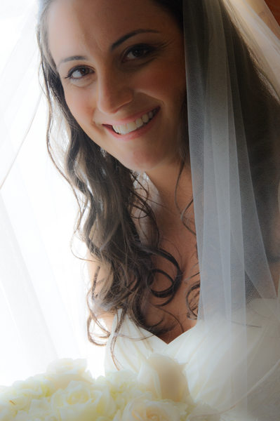 bride Portrait in natural light with sf window