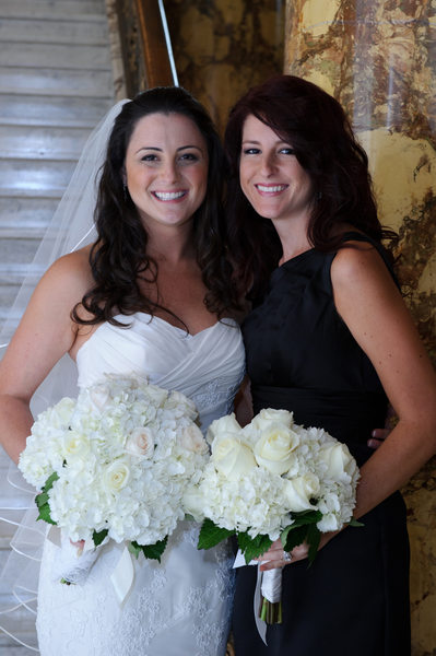 Bride with her Attendant at the Fairmont Hotel in San Francisco, CA