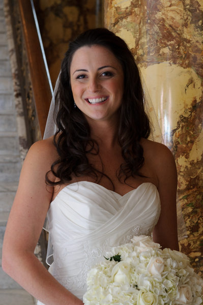 A Happy Bride at the Fairmont Hotel in San Francisco
