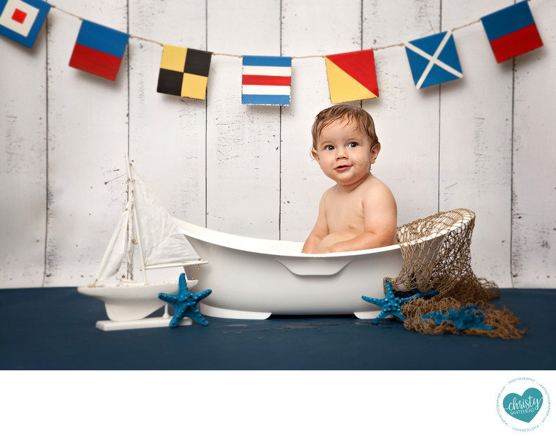Boat themed bath time session