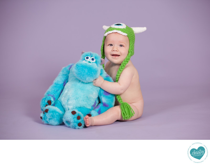 Baby Boy With Monster Photo Shoot JAX Photographers