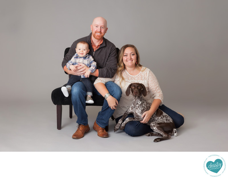 Family Photo Shoot with Dog Christy Whitehead JAX