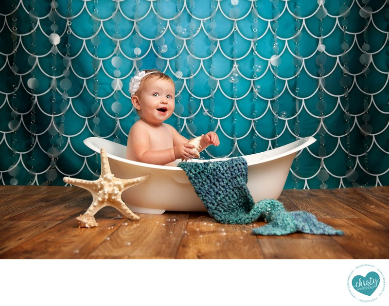 Little Mermaid Themed bath tub Photo Shoot