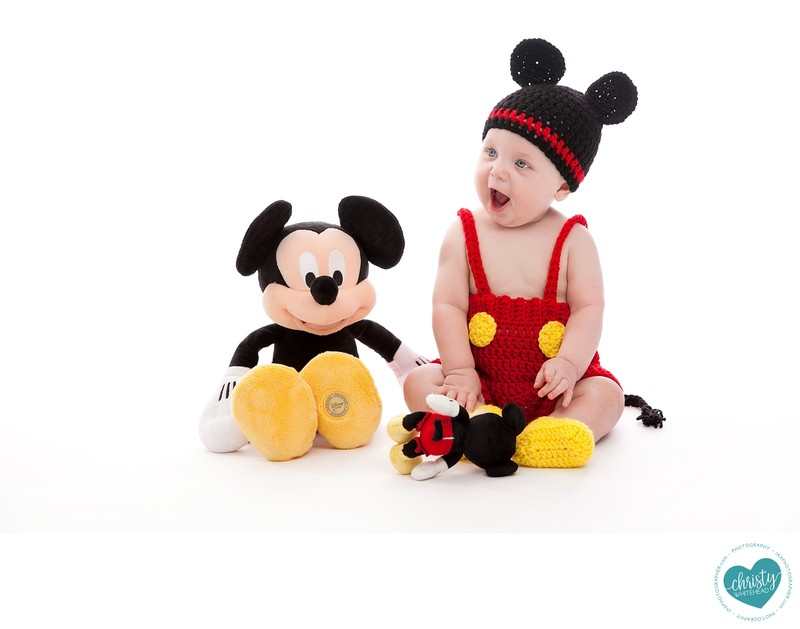 Newborn Baby With Mickey Mouse Photo Shoot JAX