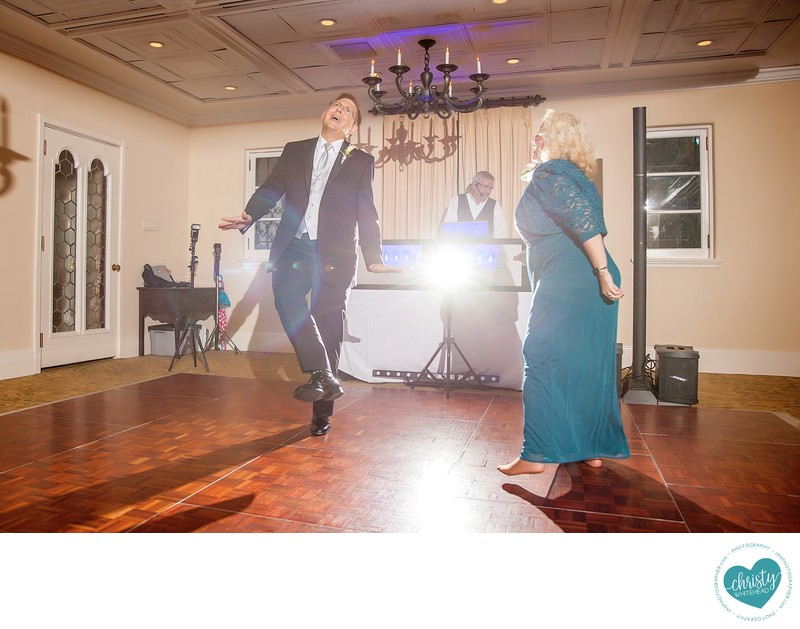 Fun first dance with mom