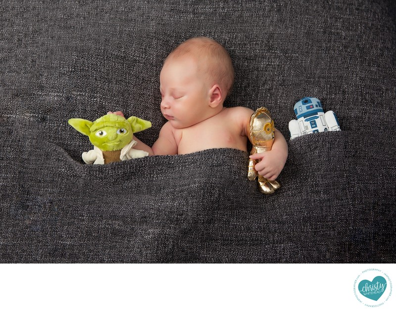 Star Wars Newborn session Go Yoda