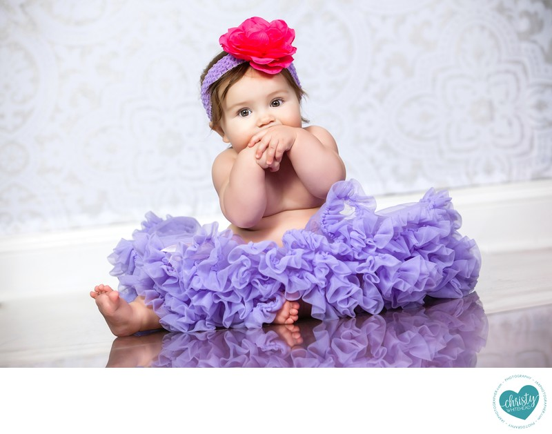 Baby Wearing A Purple Skirt JAX Florida Photographers