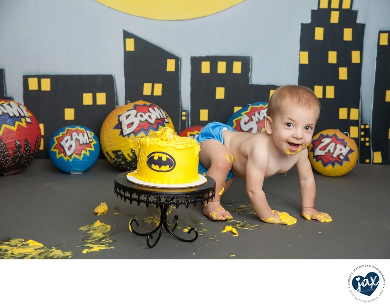 Batman Themed Cake Smash Christy Whitehead