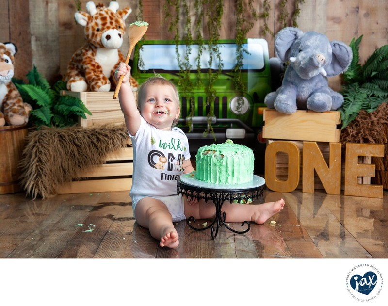 Safari Themed Cake Smash Jacksonville, FL