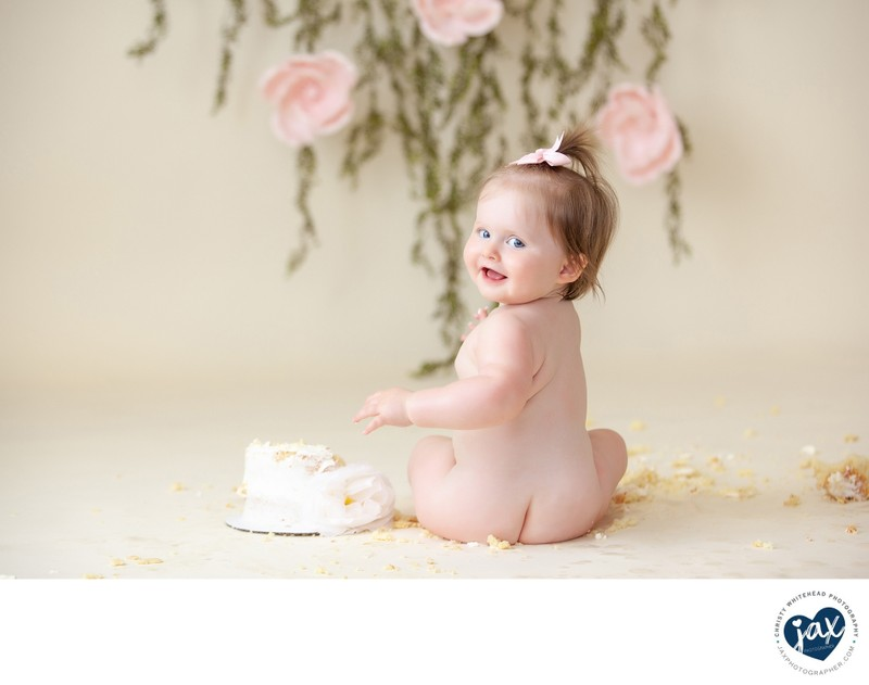 First Birthday Cake Smash Photo Shoot Christy Whitehead Photography