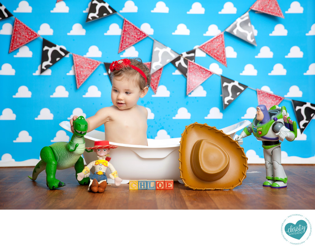 Newborn Baby Toy Story Themed Photo Shoot
