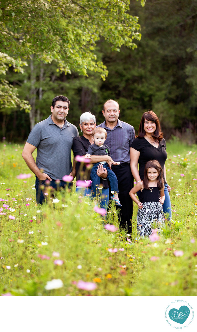 Flower Fields Family Photo Shoot Duval County