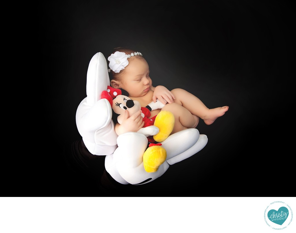 Disney fan in the making newborn session