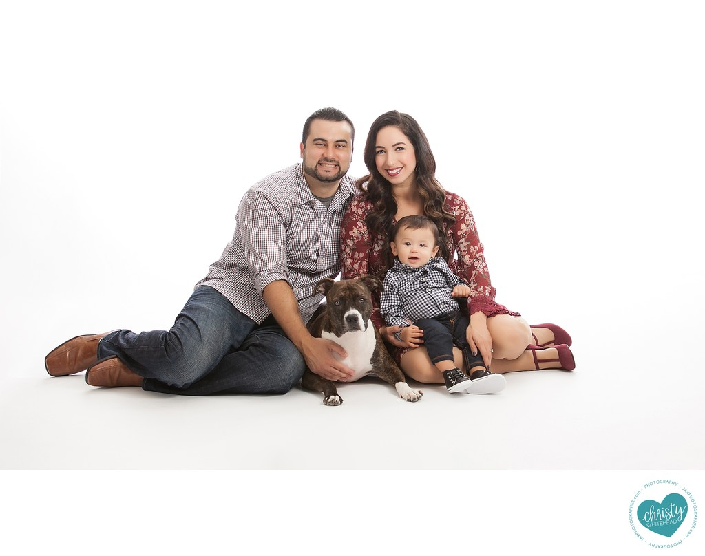 Family Photo Shoot With Their Dog JAX Florida