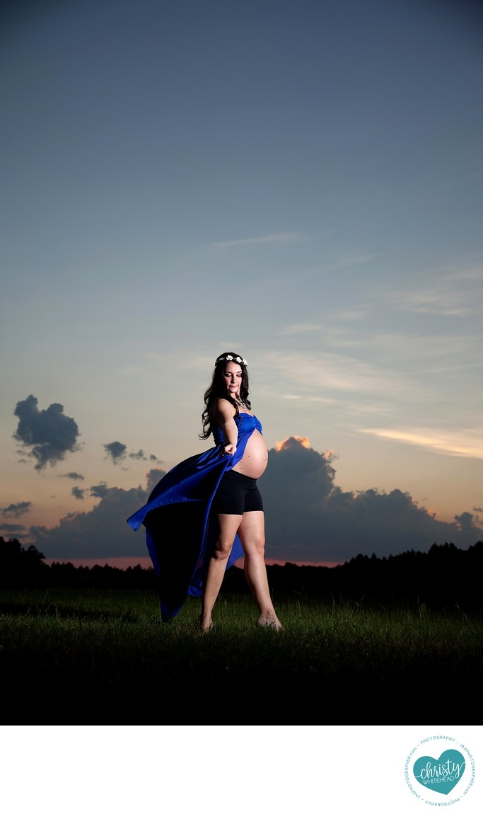 Beautiful Woman During Sunset Photo Shoot JAX Florida