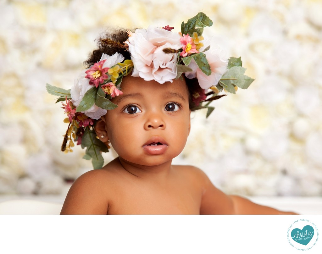 Baby Girl With A Flower Crown Photo Shoot JAX