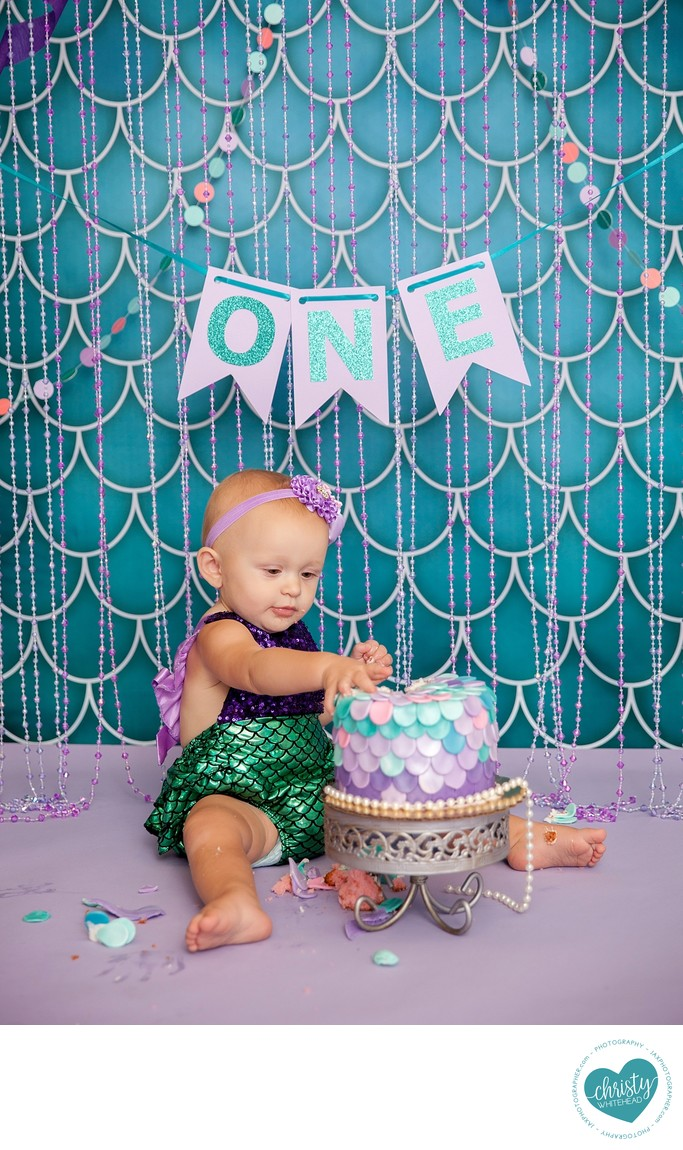 Mermaid Cake Smash
