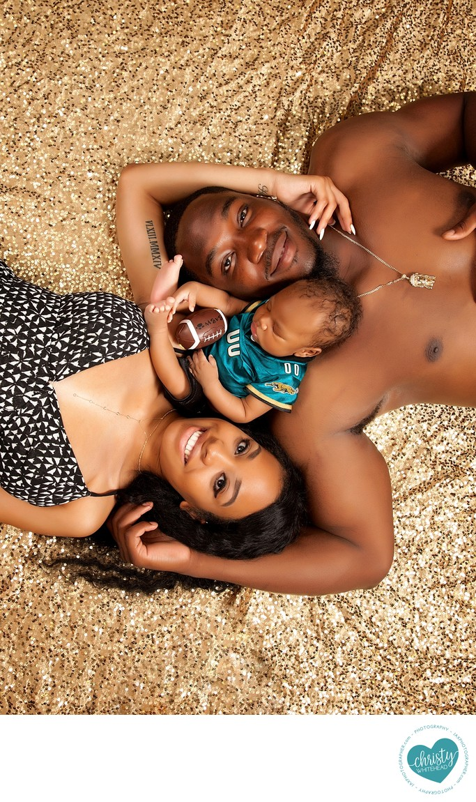 Jaguars family newborn session
