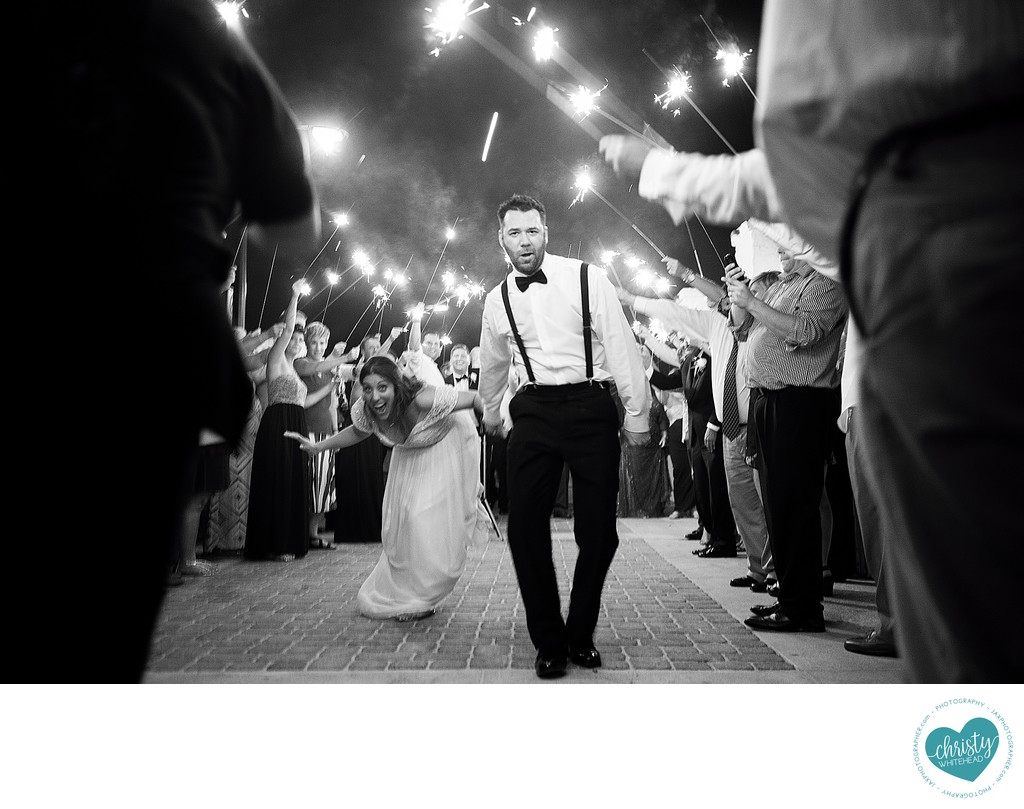 Groom has some major swagger in this sparkler exit