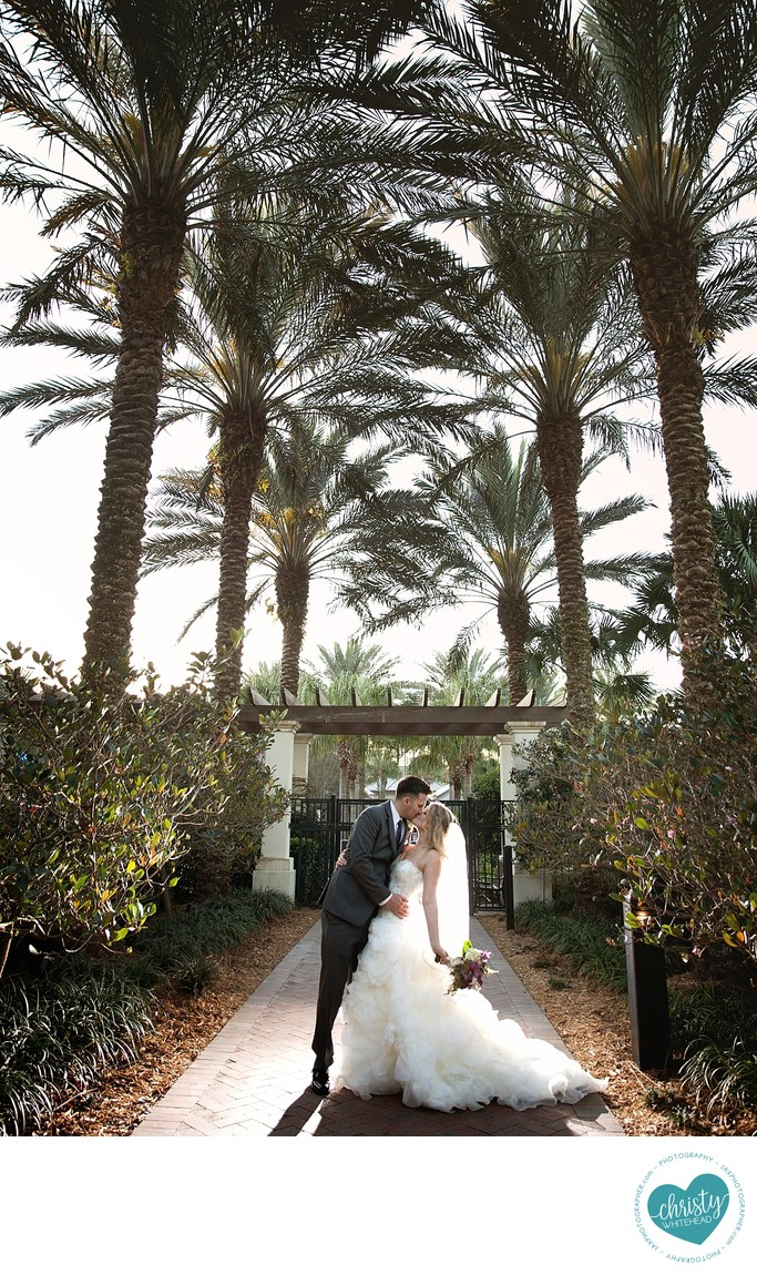 A kiss through the palm trees at Nocatee