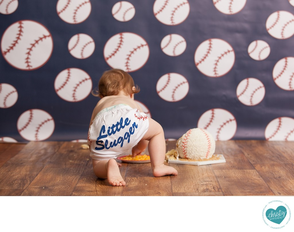 Little Slugger Cake Smash Photo Shoot JAX