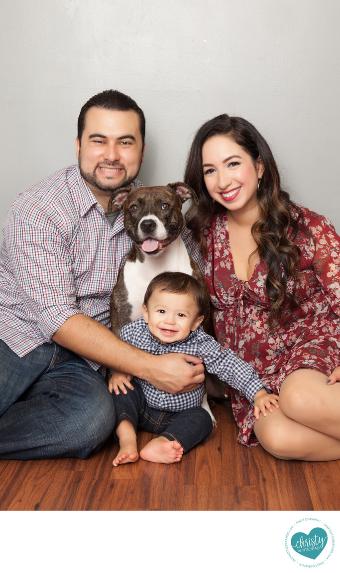 Family Photo Shoot With The Dog Jacksonville Florida
