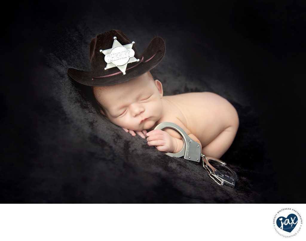 Newborn With A Cowboy Hat JAX Florida