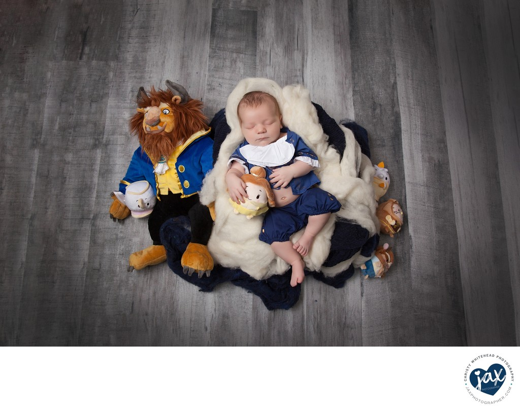 Beauty And The Beast Photo Shoot Newborn JAX