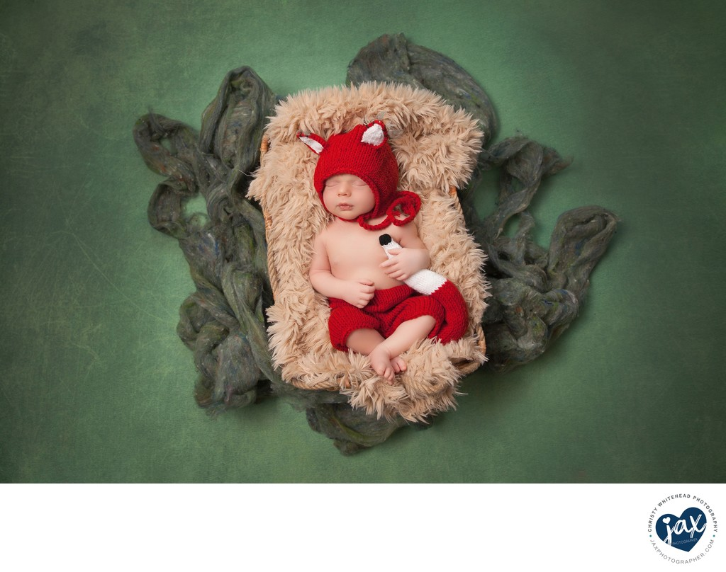 Little Baby Boy Sleeping Photo Shoot JAX Florida