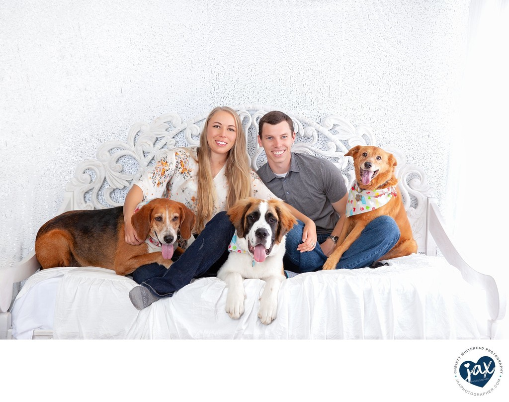 Couple and Dogs Family Photo Jax, FL