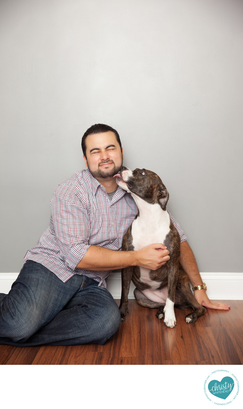Dad & Doggy Photo Shoot Christy Whitehead Photography