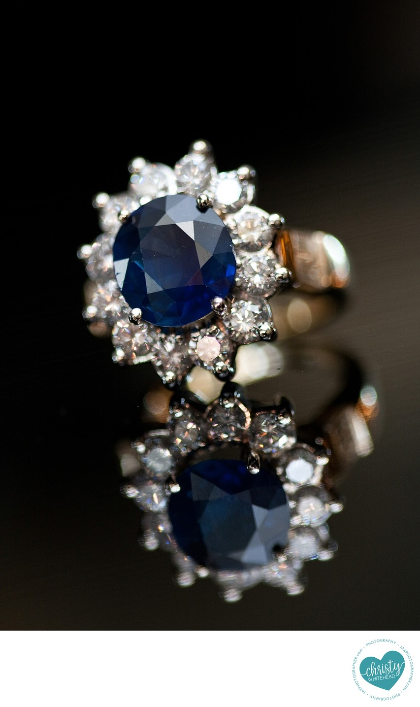 Gorgeous blue engagement ring