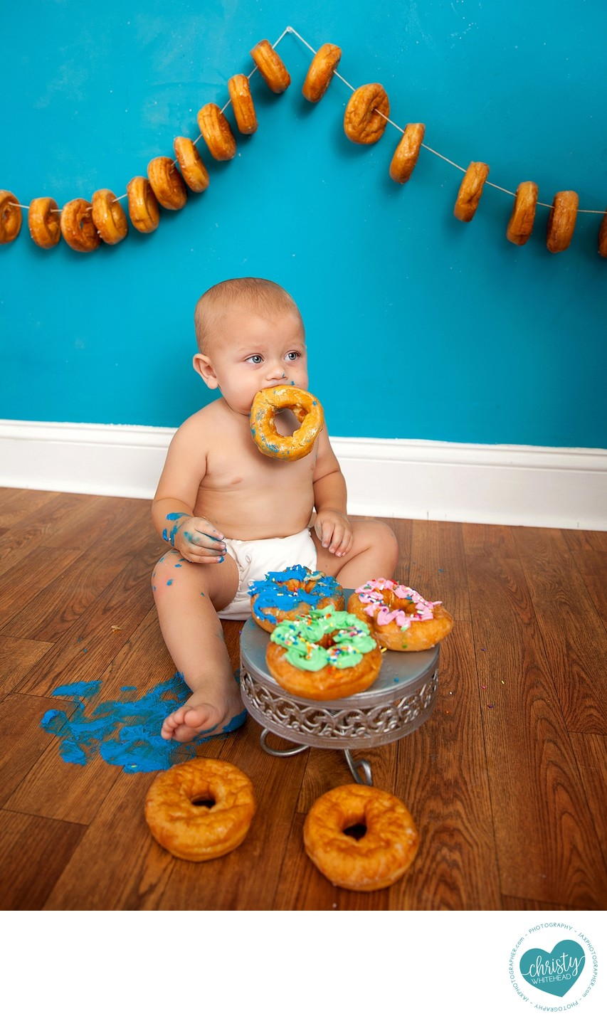 Donut Smash Baby Boy Photography JAX